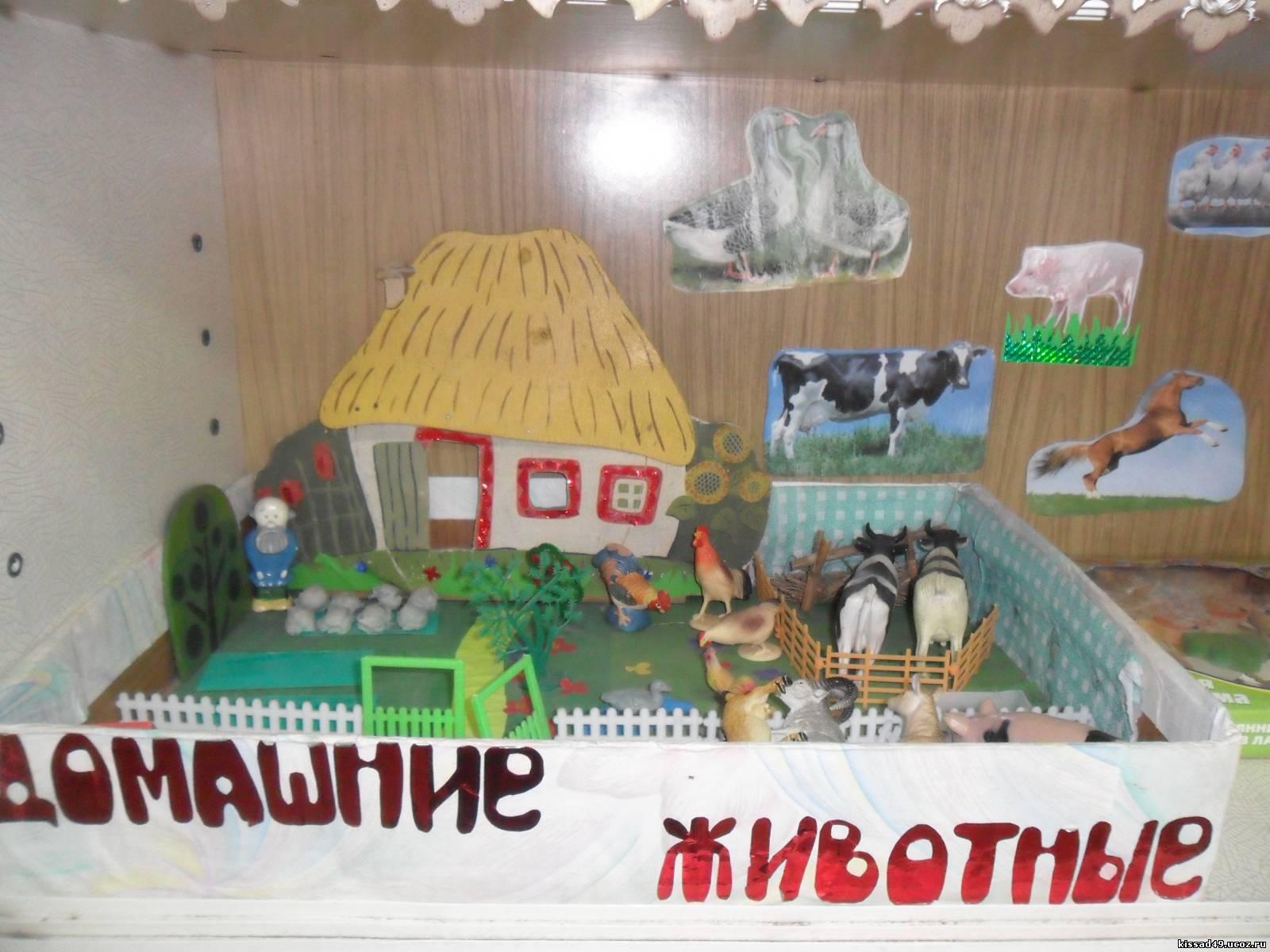 Игровая зона макет домашние животные